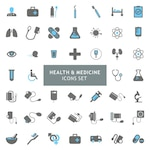 Icons set about health