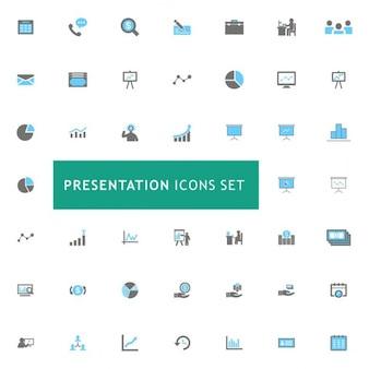 Icons set about meetings