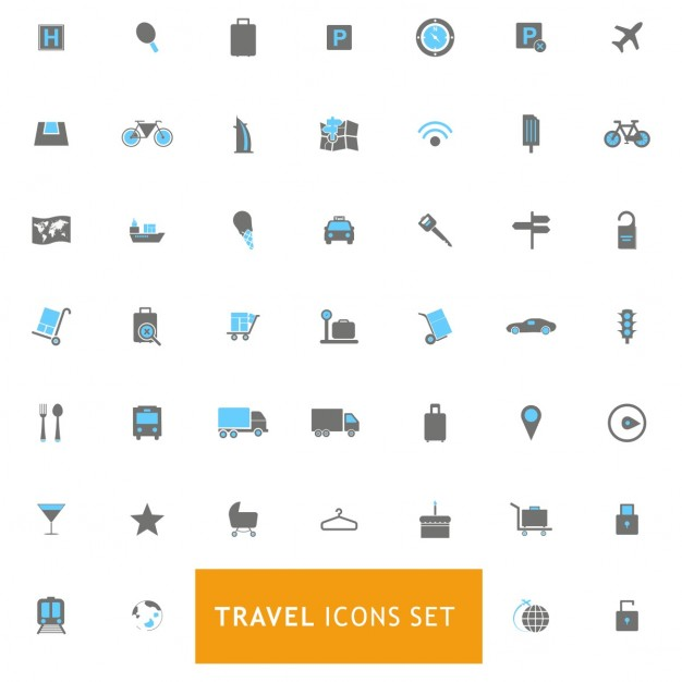 Icons set about travels