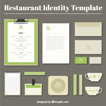 Identity corporate for eco restaurant
