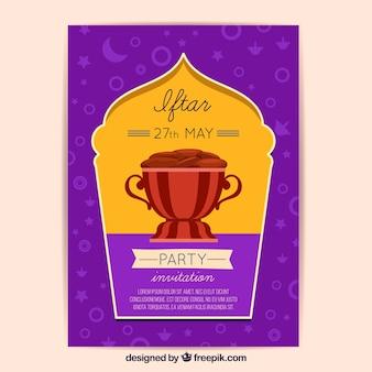 Iftar invitation with food design