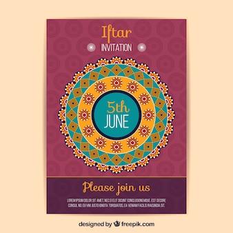 Iftar invitation with mandala design