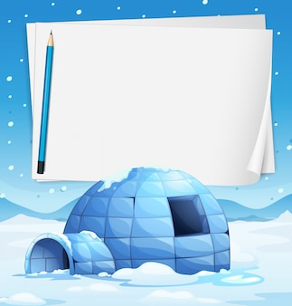 Igloo and papers