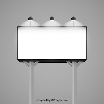 Illuminated billboard mockup