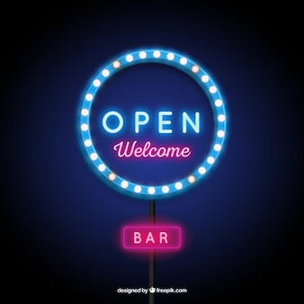 Illuminated open sign
