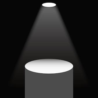 Illuminated pedestal
