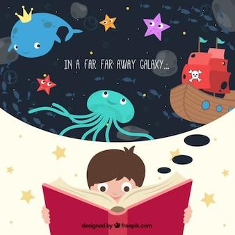 Illustrated child imagination