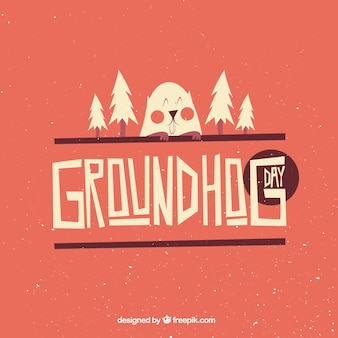 Illustrated groundhog day background
