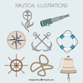 Illustrated nautical elements