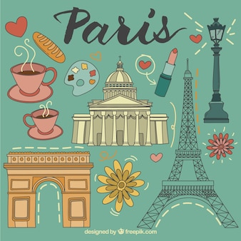 Illustrated Paris elements