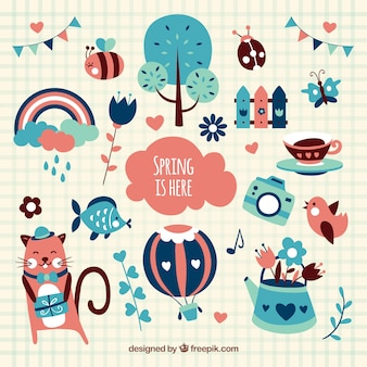 Illustrated spring elements