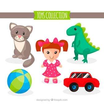 Illustrated toys collection