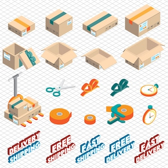 Illustration of delivery graphic icon