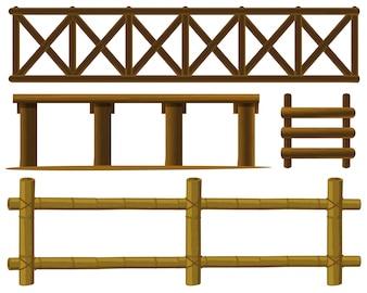 Illustration of different design of fences