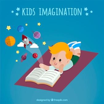 Illustration of kids imagination