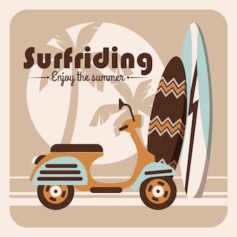 Illustration of surfriding.