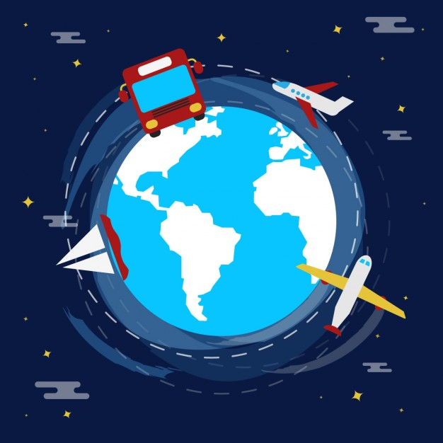 Illustration of travel in flat design