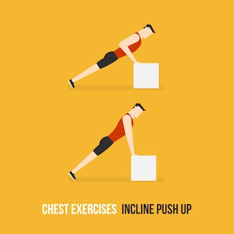 Incline push up demostration