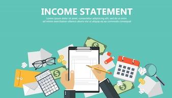 Income statement banner