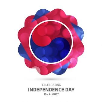 韓国は創造的な背景を輝く独立記念日を祝います