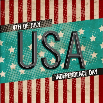 Independence day background in retro style