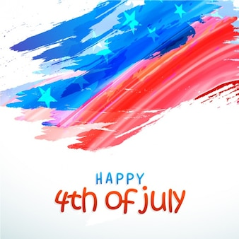Independence day background with abstract flag