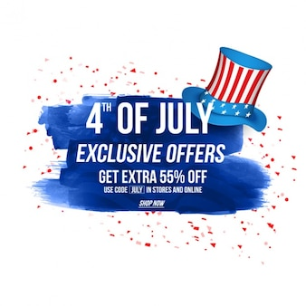 Independence day background with exclusive offers