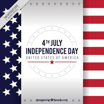 Independence day background with flag