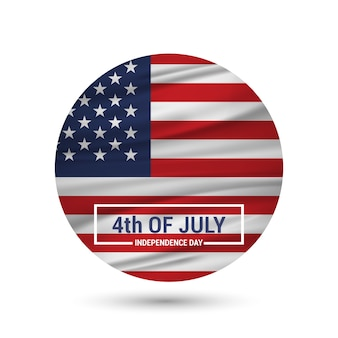 Independence day badge design