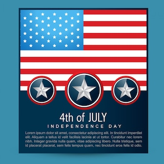 Independence day design with space for text