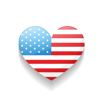 Independence day heart design