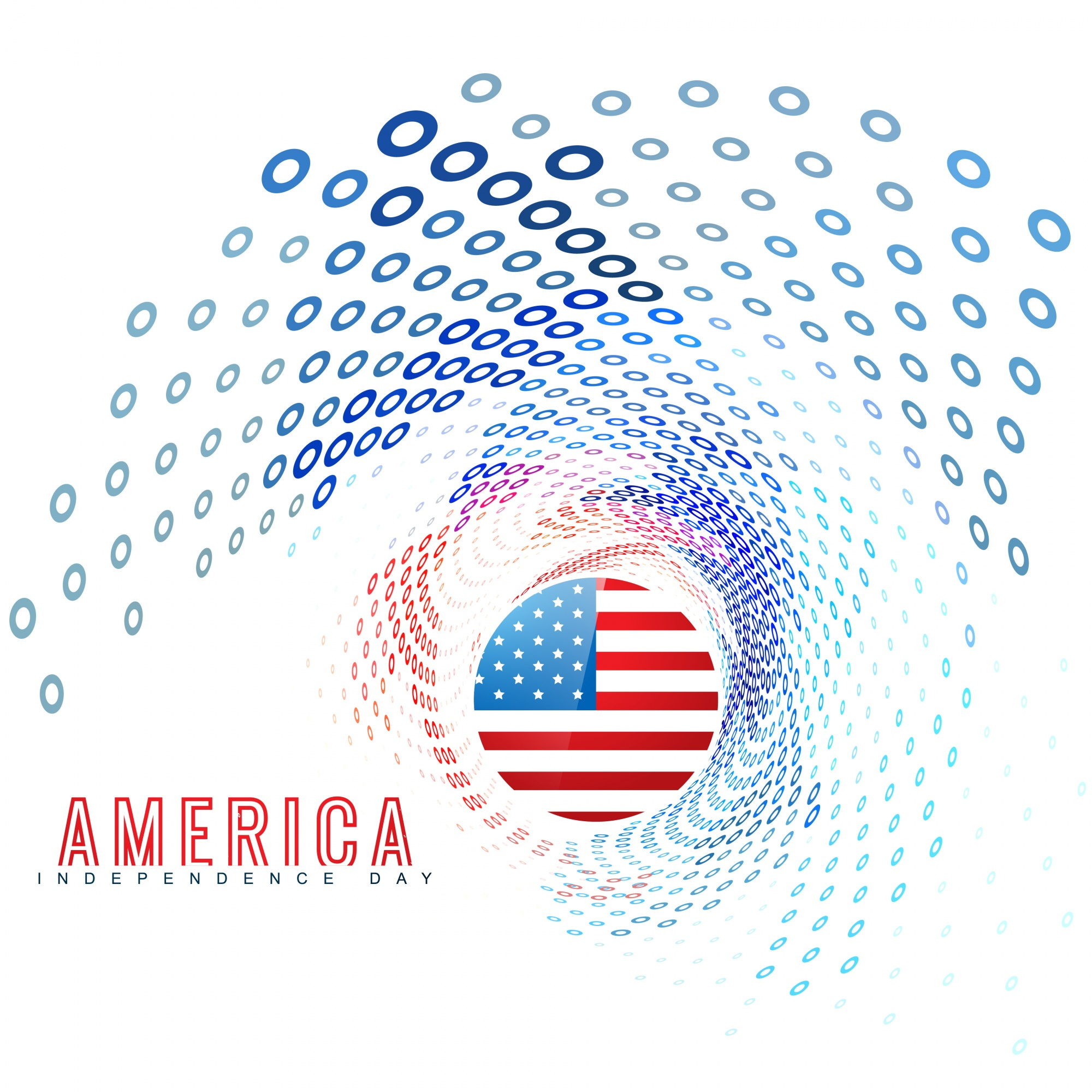 Independence day modern dots design