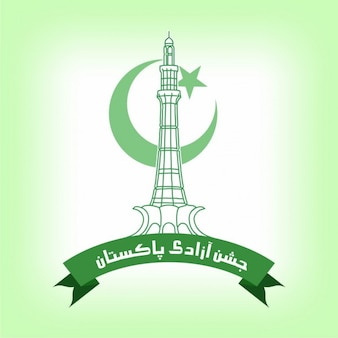Independence day of pakistan cute background