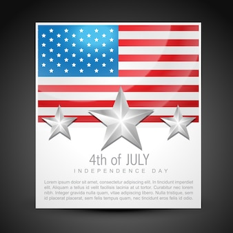 ベクトル7月4日の独立記念日デザインアート