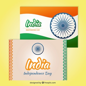 India independence day cards in abstract style