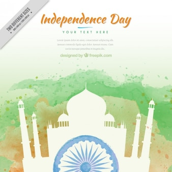 India independence day, watercolor background