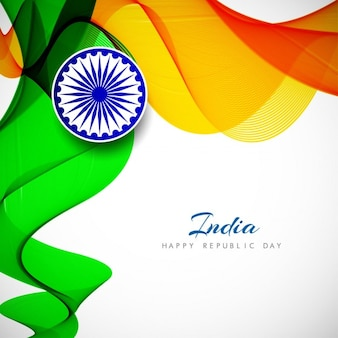 India republic day, abstract wavy background