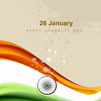 India Republic Day background in grungy style