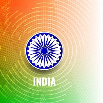 India republic day, background with circular shapes