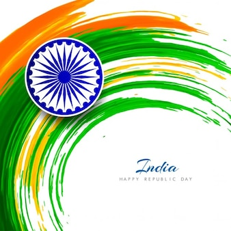 India republic day, background with circular watercolor stains