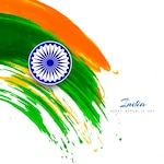 India republic day, background with watercolor stains
