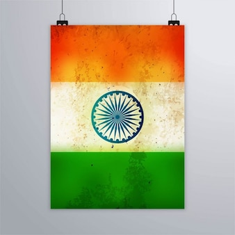 India republic day, grunge textured poster