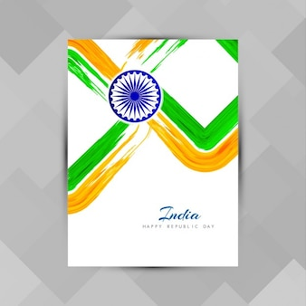 India republic day, poster with paint strokes