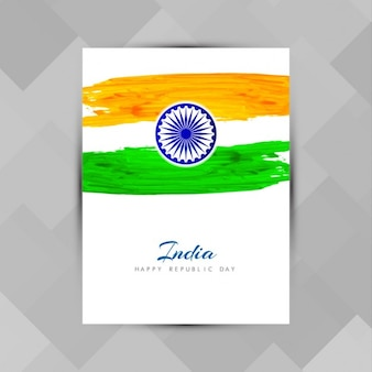 India republic day, poster with watercolor stains