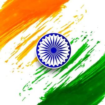 India republic day, watercolor