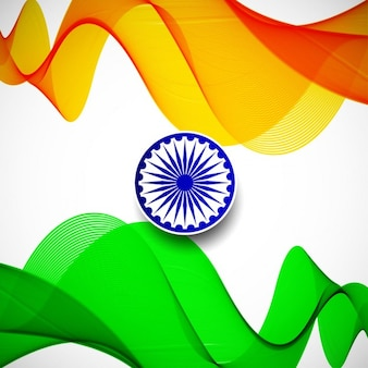 India republic day, wavy background with the flag colors