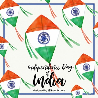 India watercolor kite background