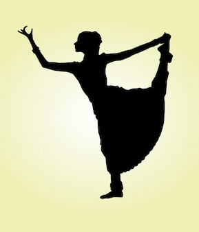 Indian Dancer Lifting Leg
