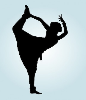 Indian dancer Pose Silhouette