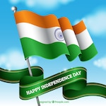 Indian flag waving in the sky